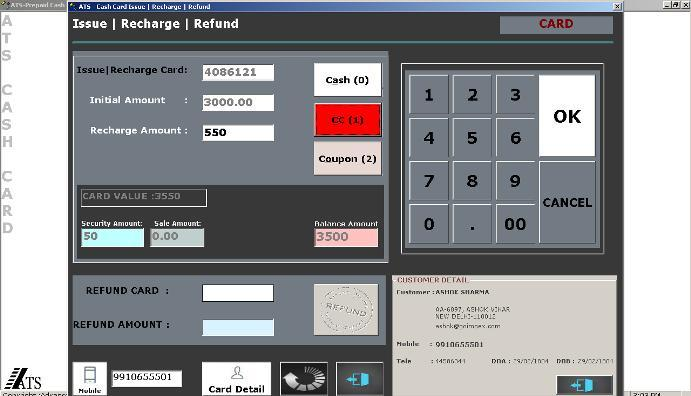 Food Court and Canteen Prepaid Card POS Billing Software